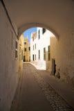 Arch in Ciutadella. Ciutadella city at Menorca island in Spain Royalty Free Stock Image