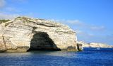 Arch in cliff Bonifacio Corsica France. Arch in cliff Bonifacio Corsica in France Stock Images