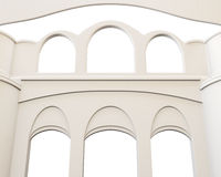 Arch close up on white background. 3d illustration Stock Image