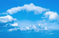 Arch of clouds Royalty Free Stock Photo