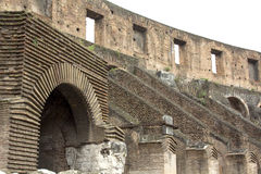 Arch of the Coliseum, Rome, Lazio, Italy. Architectural detail of the Roman Coliseum in Rome; Lazio; Italy. The arches are seen from the inside of the Royalty Free Stock Photography