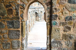 Arch color brick. Minaret  architecture Stock Image