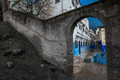 The arch in the colorful world of black and white reality Royalty Free Stock Photography
