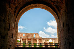 Arch in The Colosseum Stock Image