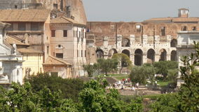 Arch and Colosseum stock video footage