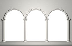 Arch with columns. Wall background Royalty Free Stock Photography