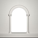 Arch with columns. Vector background Stock Image