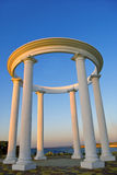 Arch with columns. Arranged in a circle Stock Photos