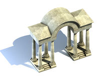Arch and columns. 3d render Stock Photo