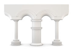 Arch with columns isolated on white background. 3d. Arch with columns isolated on white background. Front view. 3d render image Stock Image