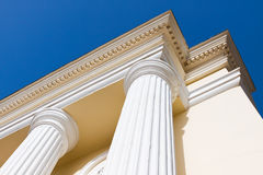 Arch columns under blue sky. Arch white columns under blue sky Royalty Free Stock Images