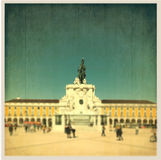 Arch at commerce square in Lisbon, Portugal Stock Photography