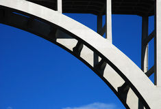 Arch concrete bridge Royalty Free Stock Photo