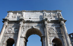 Arch of Constantin. Arch of Emperor Constantin in Rome, near Colloseum Royalty Free Stock Photo