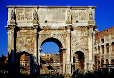 Arch of Constantin. In Rome Stock Images
