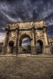 The Arch of Constantine. Arco di Costantino - Triumphal arch in Rome, situated between the Colosseum and the Palatine Hill Royalty Free Stock Images