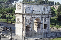 Arch of Constantine. The Arch of Constantine with its engravings in Rome, Italy Stock Image