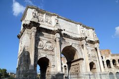 Arch of Constantine. Rome, Italy Stock Image