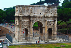 The arch of Constantine. In Rome Italy with blue sky Stock Photography