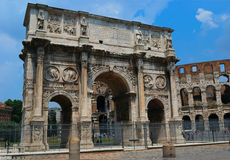 The arch of Constantine. In Rome Italy with blue sky Royalty Free Stock Photography