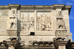 Arch of Constantine. (Arco Constantino) - Roman empire ancient landmark in Rome, Italy Stock Photos