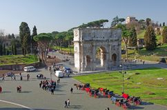 Arch of Constantine. The Arch of Constantine (Italian: Arco di Costantino) in Rome Stock Photo