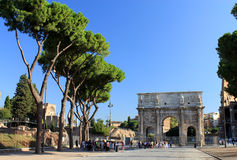 Arch of Constantine. In Rome, Italy Royalty Free Stock Image
