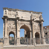 Arch of Constantine. The Arch of Constantine near the Colosseum in Rome, Italy Stock Photos