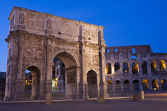 Arch of Constantine. The Arch of Constantine is a triumphal arch in Rome, situated between the Colosseum and the Palatine Hill Royalty Free Stock Image