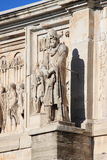 Arch of Constantine. Details of Arch of Constantine in Rome, Italy Stock Photos