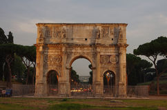Arch of Constantine. In the ancient Roman forum area, Italy Royalty Free Stock Images
