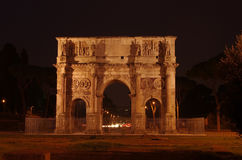 Arch of Constantine. In the ancient Roman forum area, Italy Stock Photo