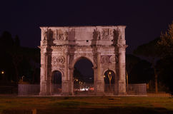 Arch of Constantine. In the ancient Roman forum area, Italy Royalty Free Stock Photo