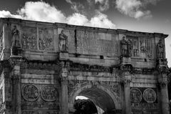Arch of Constantine. Next to Colosseum in Rome Royalty Free Stock Photos