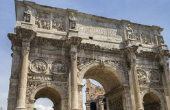The Arch of Constantine & x28;Arco di Costantino& x29; - the. The Arch of Constantine, Rome, Italy, Juni 2017, detail of the cum relays of the image Royalty Free Stock Photo