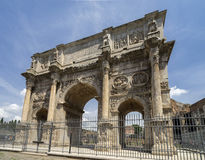The Arch of Constantine Arco di Costantino - the. `triumphal arch` in Rome, Italy Royalty Free Stock Photos
