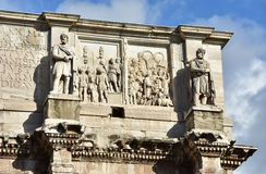 Arch of Constantine attic with Dacian Barbarians Royalty Free Stock Photos