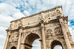 Arch of Constantine with blue sky. Stock Photo