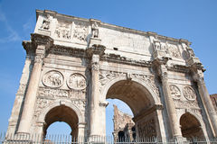Arch of Constantine. And coliseum in background. Rome, Italy Stock Photos