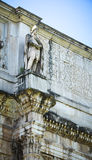 The Arch of Constantine. In detail in Rome, Italy Stock Photography