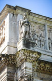 The Arch of Constantine. In detail in Rome, Italy Stock Image