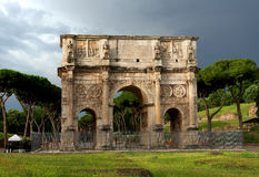 Arch of Constantine. At the end of the palatine hill. Rome, Italy Royalty Free Stock Image