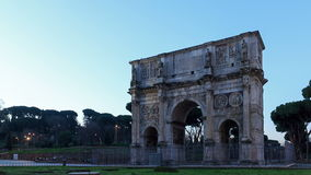 Arch of Constantine. Fixed distortion. Rome, Ital stock video