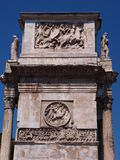 Arch of Constantine the Great, Rome, Italy. Decoration details of the Arch of Constantine the Great, Rome, Italy Royalty Free Stock Photos