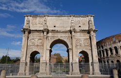 Arch of Constantine. In hoc signo vinces Royalty Free Stock Photos