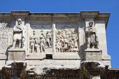Arch of Constantine. Italy - Rome. Famous triumphal arch - Arch of Constantine on Palatine Hill Stock Photography