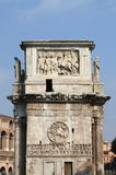 Arch of Constantine. Lateral side of Arch of Constantine in Rome, Italy Royalty Free Stock Photo