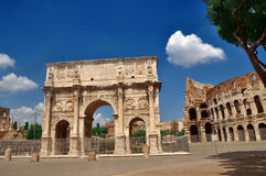 Arch of Constantine near the Colosseum. (Arco di Costantino Royalty Free Stock Image