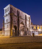 Arch of Constantine. The Arch of Constantine near the Colosseum at night Royalty Free Stock Image