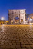 Arch of Constantine. The Arch of Constantine near the Colosseum at night Stock Images